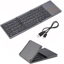 Teclado Bluetooth Plegable Compatible Con Celulares, Tablets, PC, Laptop