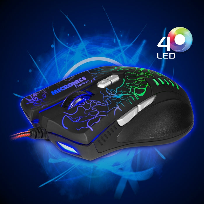 Mouse Optico Micronics MIC M669 con Luces LED USB