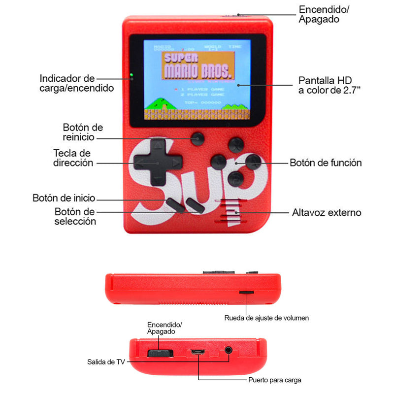Consola Retro SUP Con 400 Juegos Integrados y Gamepad Adicional Para 2 Players