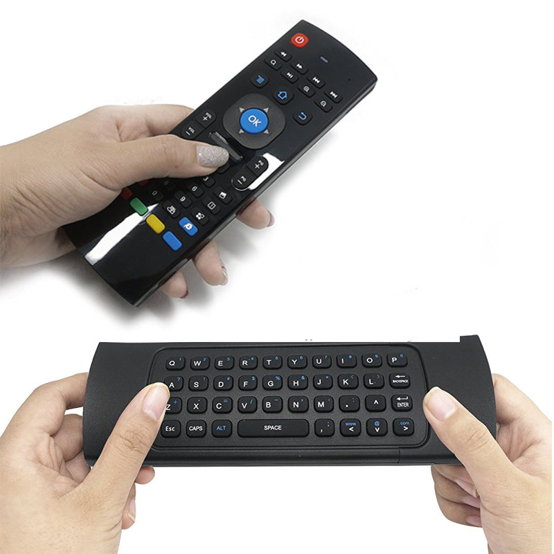 Mouse Aereo y Teclado Multimedia inalambrico para Smart Tv PC