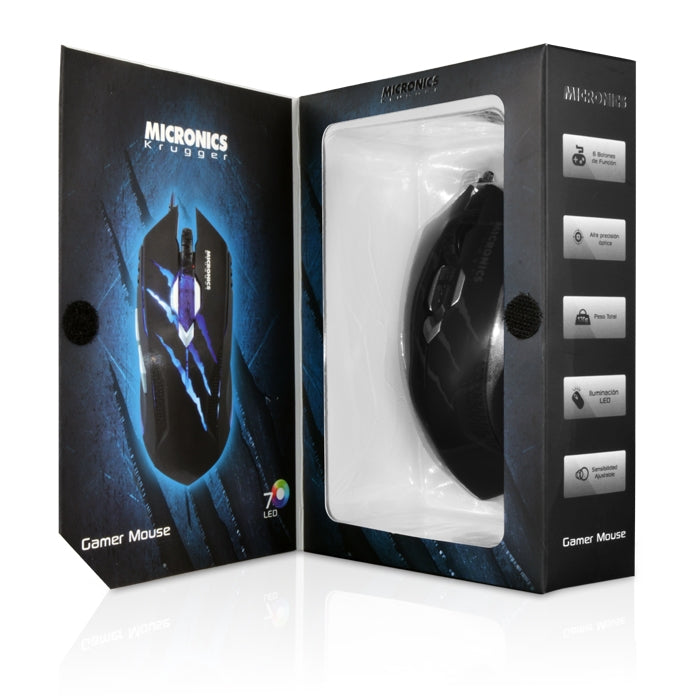 Mouse Optico Micronics MIC M800 con Luces LED USB