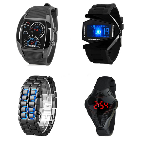 Pack - 4 x S/ 65.00 - Relojes Led Ultrabyte con diseño futurista