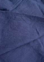 Load image into Gallery viewer, A close up photograph of midnight blue linen.