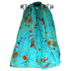 Aussie Wild Flower Scarf - Aqua New Zealand Designed