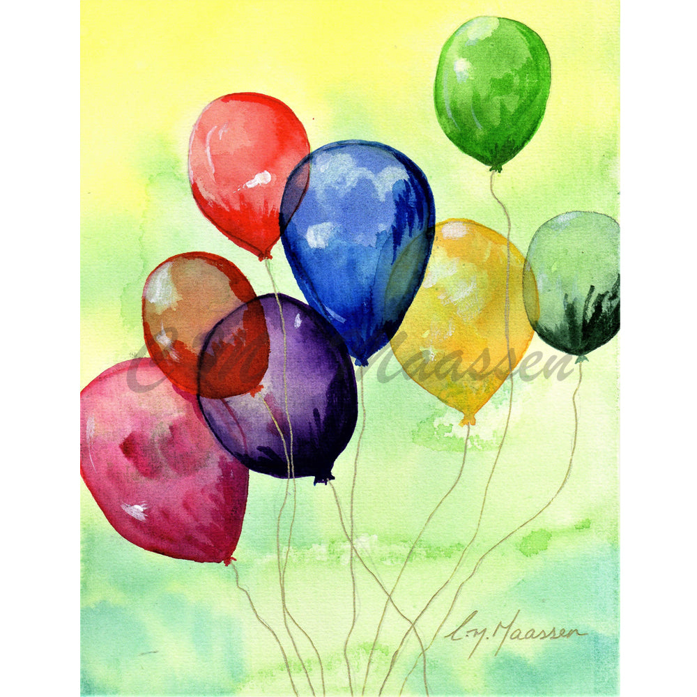 Balloons card by Christina Maassen