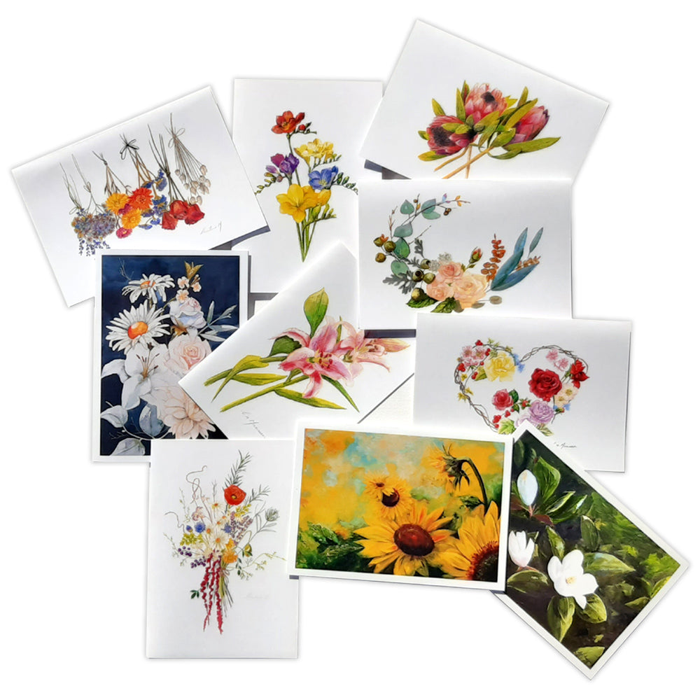 Contemporary Flowers Card Pack by Christina Maassen