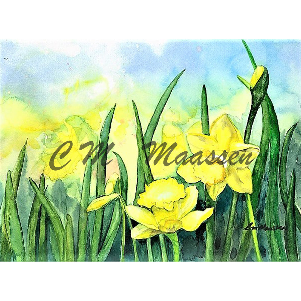 Daffodils Card by Christina Maassen