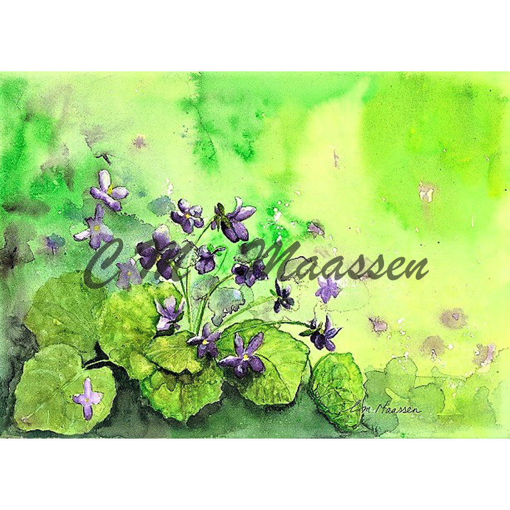 Violets Cards by Christina Maassen