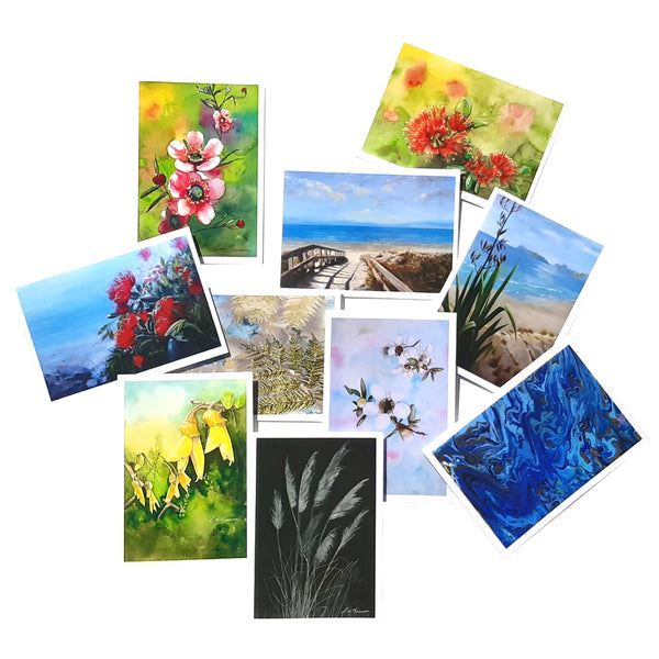 NZ Scenes & Flower Card Pack