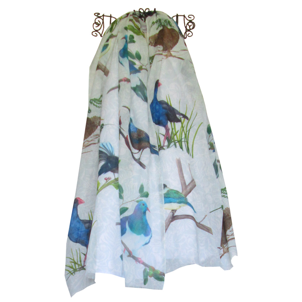 Native Birds Small Print Scarf by Christina Maassen