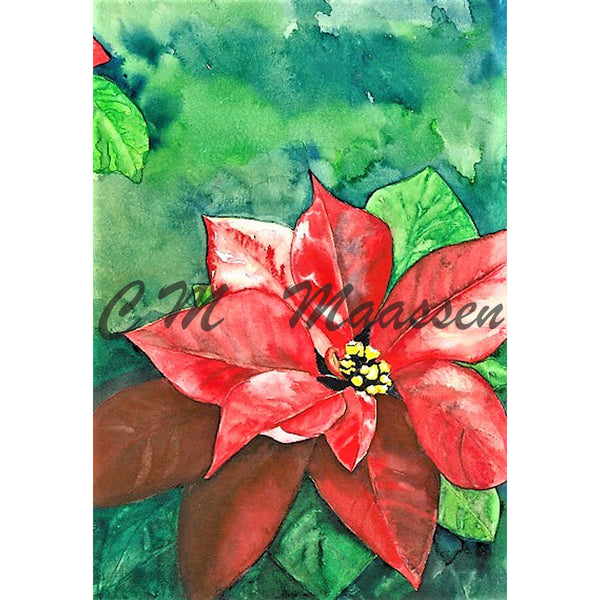 Poinsettia Cards by Christina Maassen