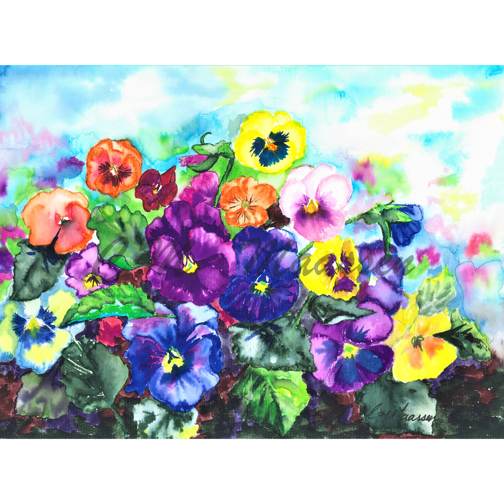 Pansies Card by Christina Maassen