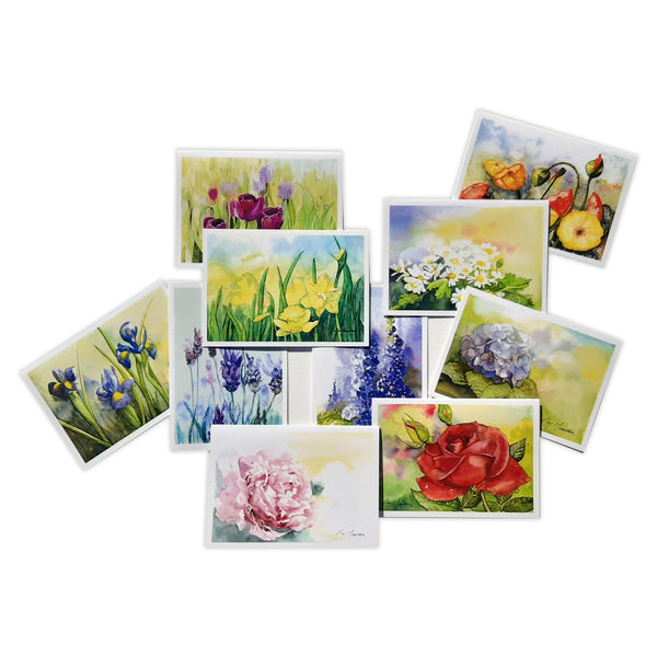 Pretty Floral Cards Card Pack by Christina Maassen