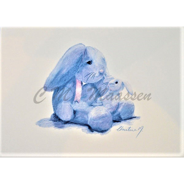 Blue Bunny Cards by Christina Maassen