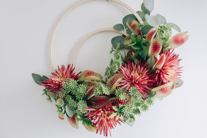 How to Make a Floral Wreath - Double Hoop