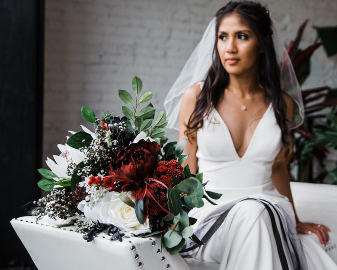 THE COORDINATED BRIDE: Ruby and Emerald Industrial Styled Shoot