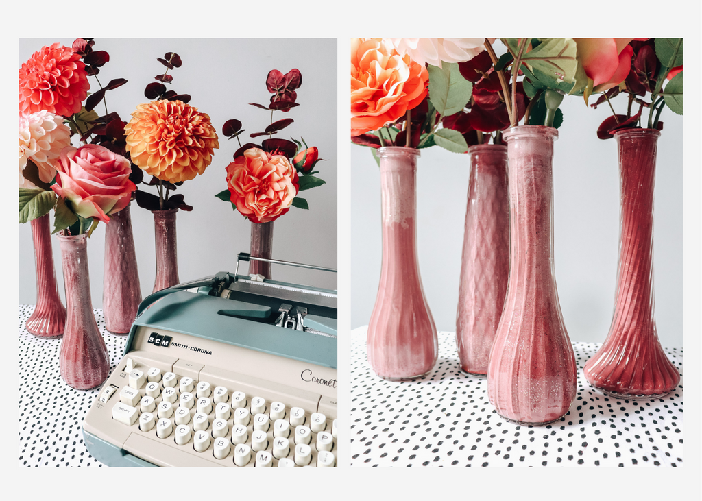 How to Ombre Painted Vases with Flowers Rogue Petal Co
