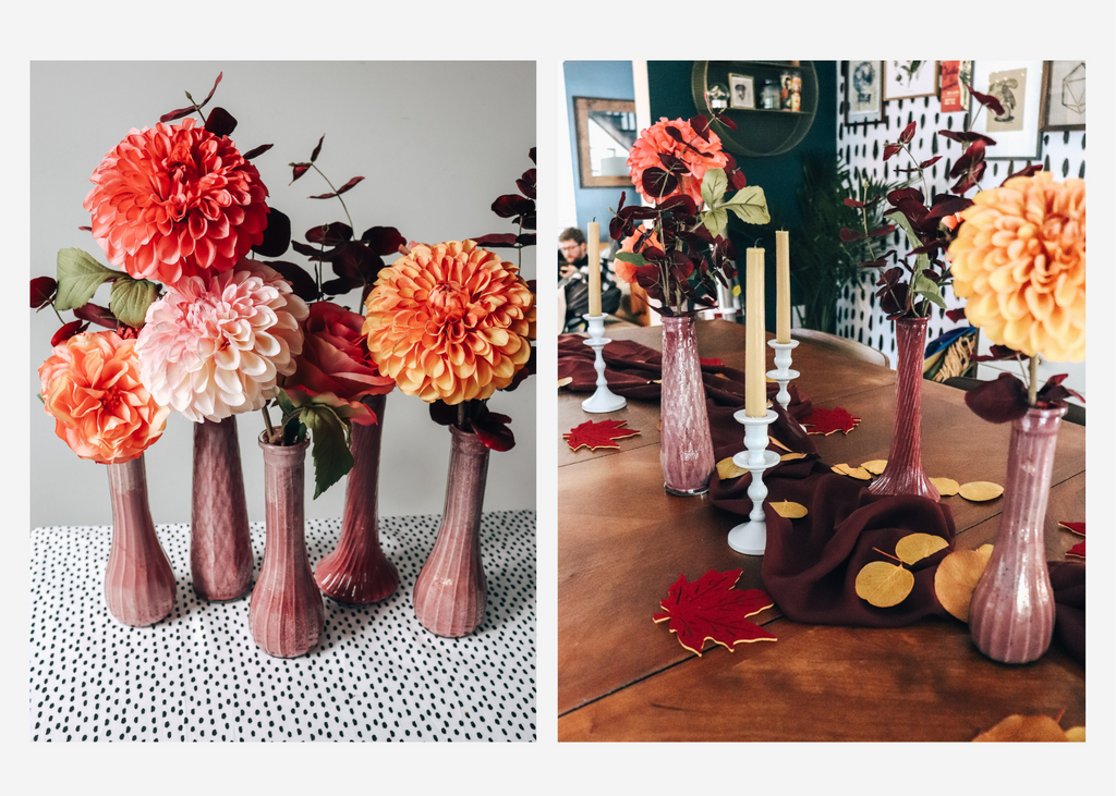 How to Ombre Painted Vases with Flowers DIY Crafting
