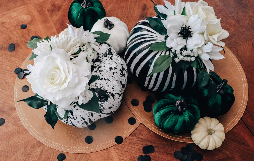 How to Floral Painted Pumpkins DIY