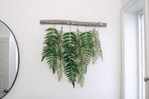 Forest and Maiden Hair Fern Wall Hanging