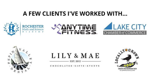 Ladder Mouse Clients: Rochester Math & Science Academy, AnyTime Fitness, Lake City Chamber of Commerce, Lily & Mae, Pepin Valley Dental, & Under the Midnight Sun Co-Op