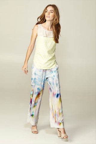Spencer Lacy Shattered Abstract Flared Pant