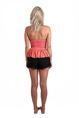 Bluebird Designs Angel Fish - Peplum Coral