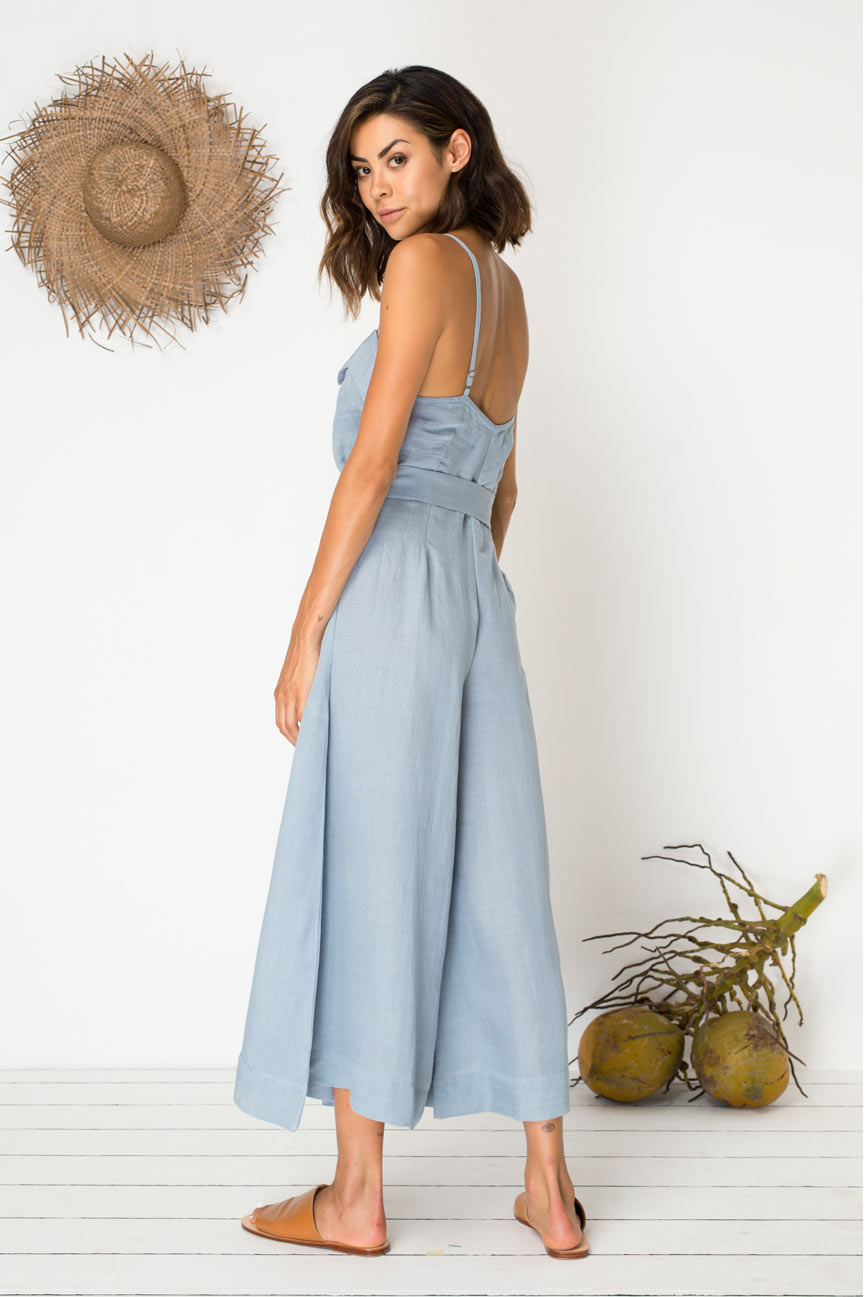 Eyes for You Jumpsuit - Mineral Blue