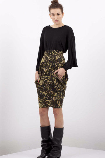 Tluxe China Doll Drape Pocket Skirt