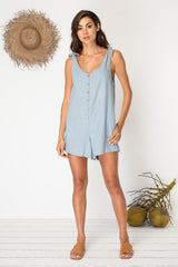 Island Life Playsuit - Mineral Blue