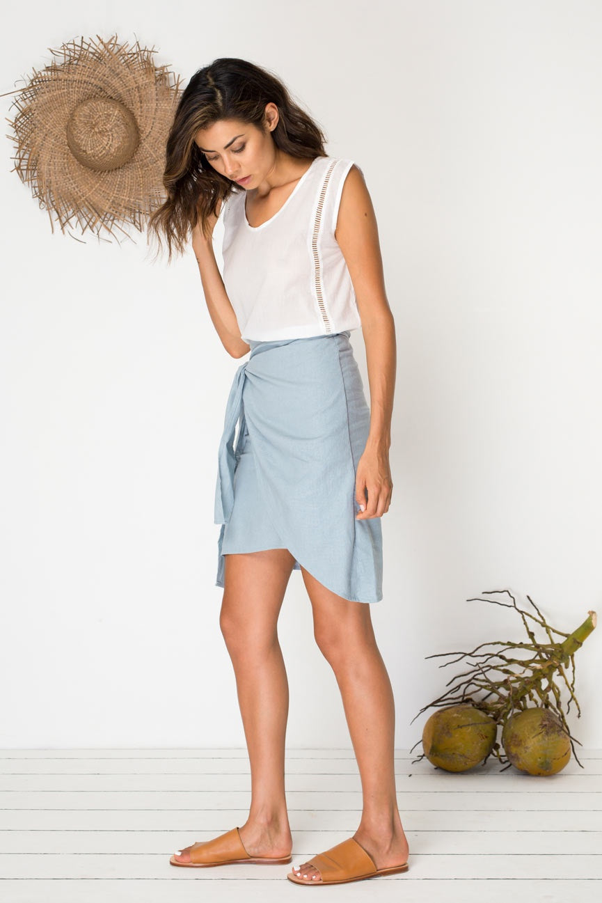 Boardwalker Skirt - Mineral Blue