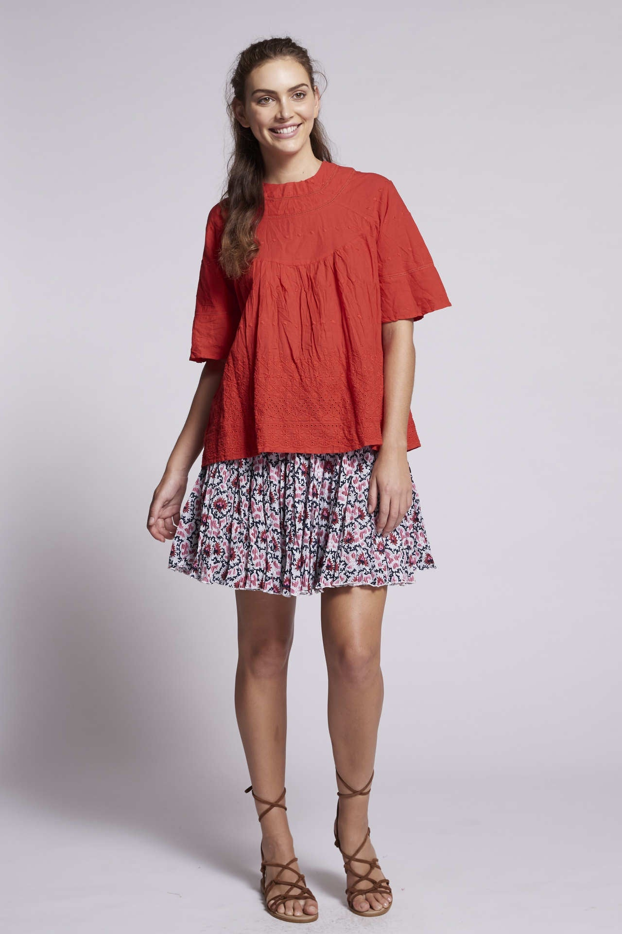 Bruno Marni Top - Anglaise Rosso