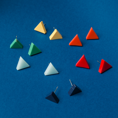 Contrast Triangle Stud Earring