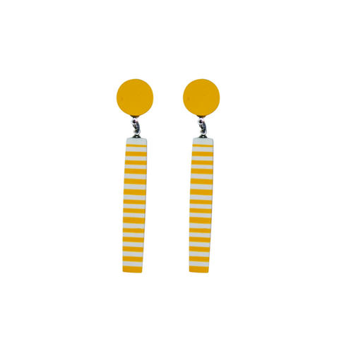 French Twist Striped Drop Earring