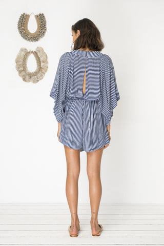 In Too Deep Playsuit - Pacific Stripe