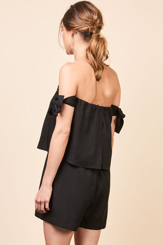 Mesop Amorette Playsuit - Black