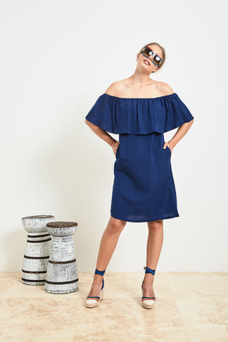 Navy Linen Multiway Dress