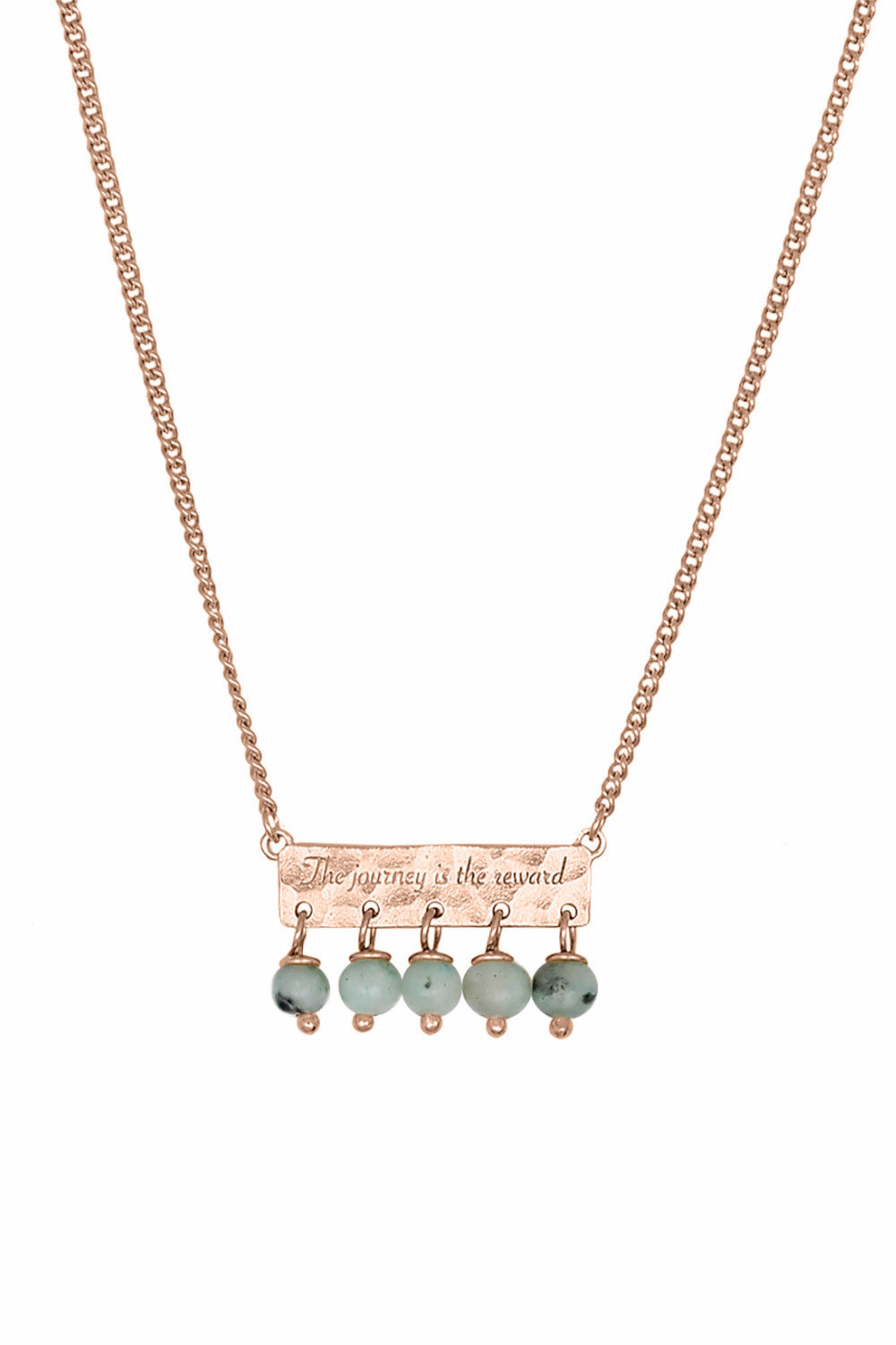 Nicole Fendel Frida Bead Bar Necklace - Rose Gold