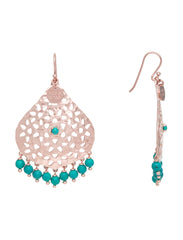 Lillian Beaded Earring - Rose Gold