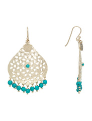 Lillian Beaded Earring - Soft Gold