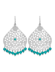 Lillian Beaded Earring - Silver