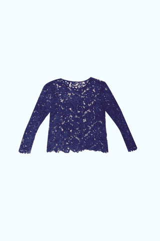 Sancerre. Pascoe Lace Top Twilight Navy