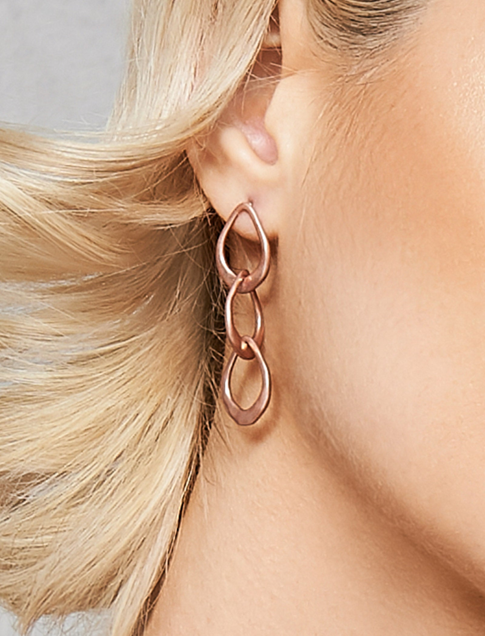 Saskia Link Earring - Rose Gold