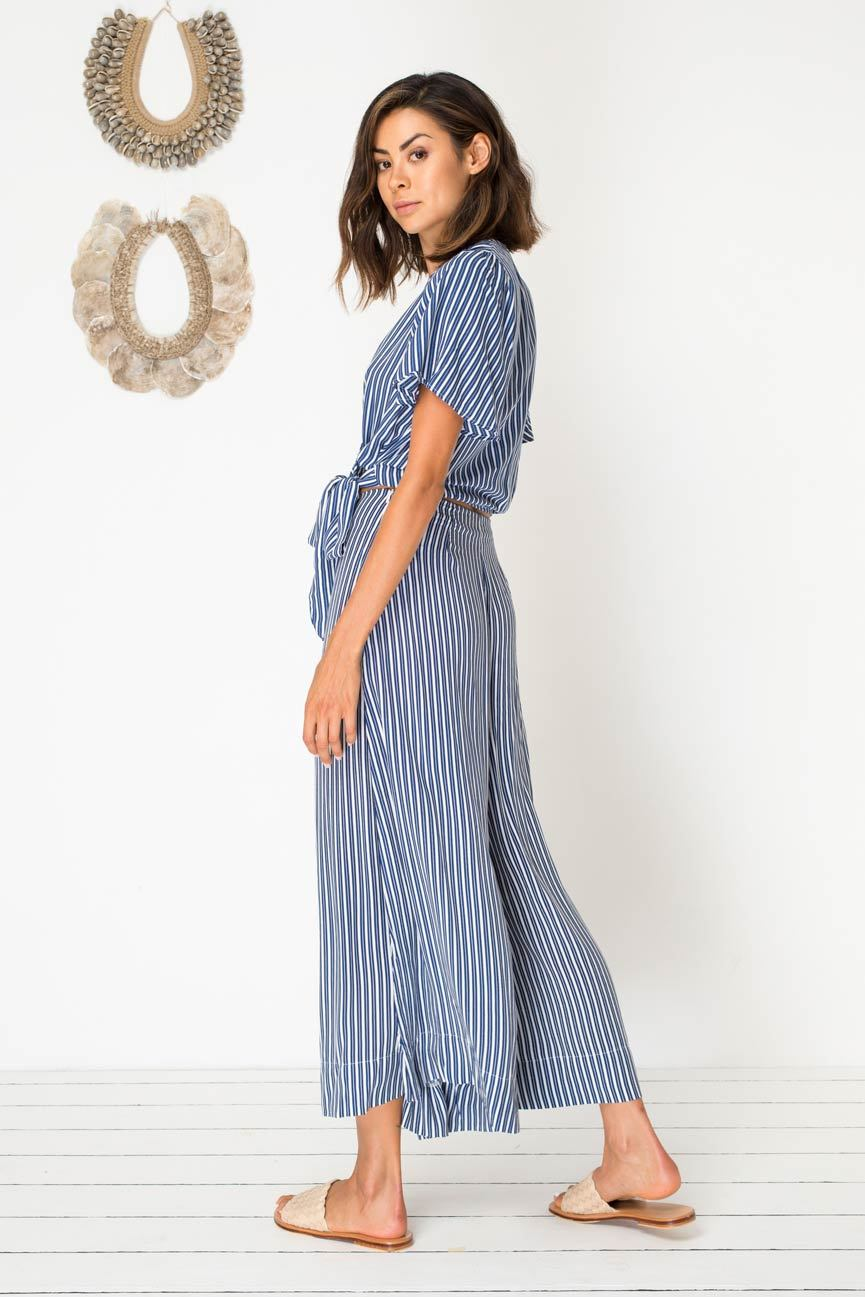 Ticket to Ride Culottes - Pacific Stripe