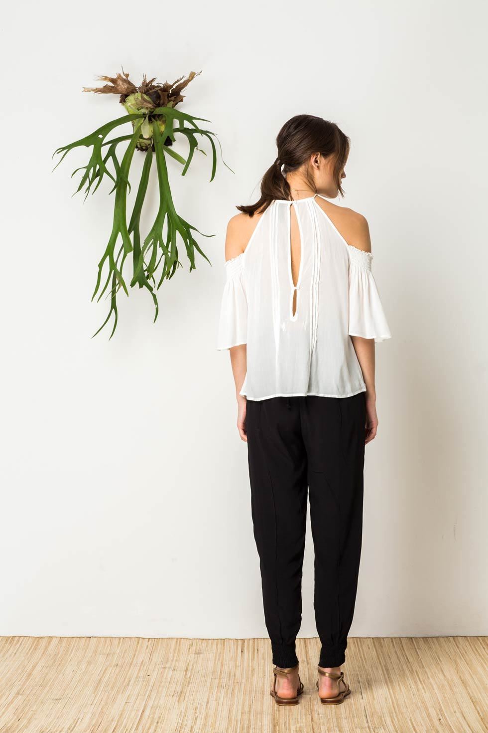Bird & Kite Hidden Heart top - White