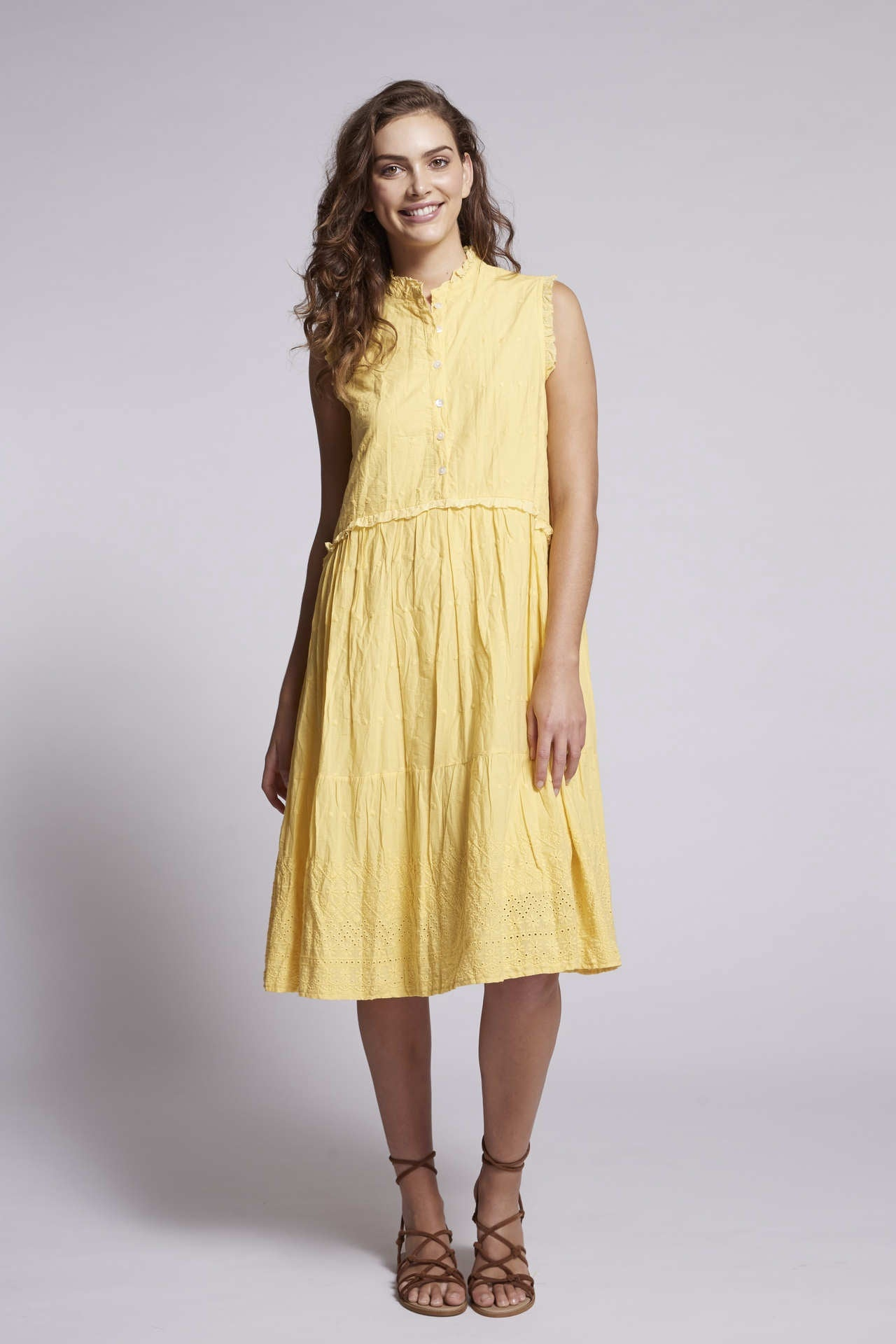 BRUNO Chloe Dress - Anglaise Primrose