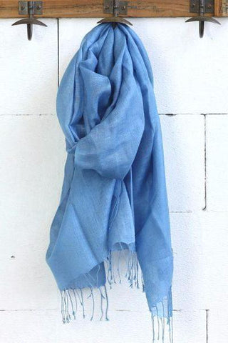 Mary Blue Scarf