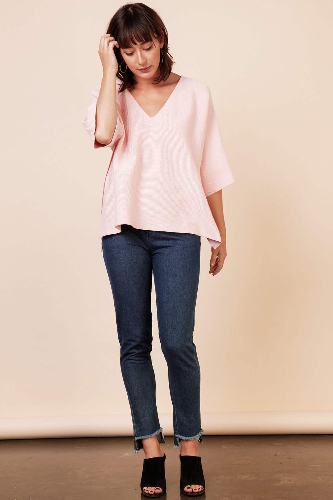 Mesop Chaplin Box Knit - Blush
