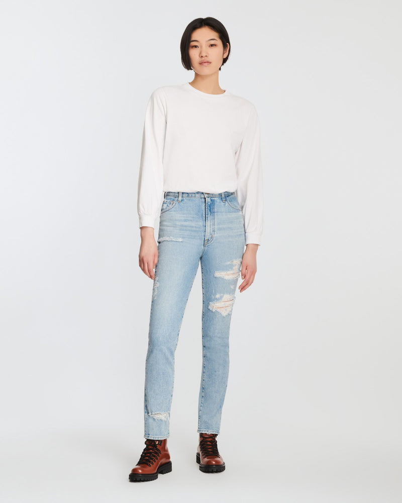J BRAND Alana High Rise Crop Skinny FIX UP DESTRUCT