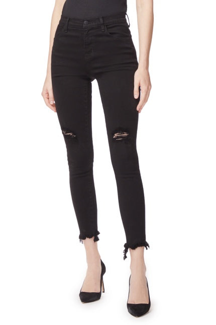 J BRAND Alana High Rise Crop Skinny VENERATION DESTRUCT